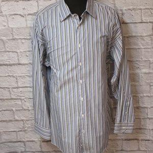 Murano 4XLT Tall Blue Striped Shirt M54